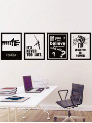 Encourage Quotes Print Photo Wall Decals Set