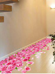 3D Blooming Rose Interior Wall Art Sticker For Toilet - ROSE MADDER