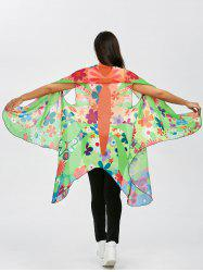 Sleeveless Butterfly Wing Chiffon Pashmina