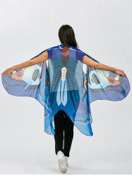 Vivid Sleeveless Butterfly Wing Cape Chiffon Pashmina