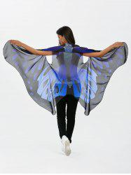 Sleeveless Butterfly Wing Cape Chiffon Pashmina