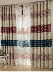 Striped Fish Anchor Pattern Blackout Window Curtain