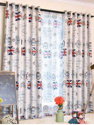 Union Flag Pattern Polyester Blackout Window Curtain