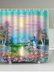 Dreamy Floral Garden Painting Print Shower Curtain