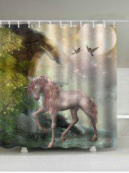 Pegasus Forest Print Shower Curtain
