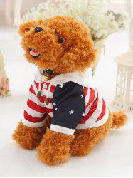 Dressed Star Striped Hooded Teddy Dog Toy