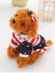 Dressed Peter Pan Collar Bowknot Flower Teddy Dog Toy - LIGHT BROWN SIT 30CM