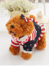 Habillé Peter Pan Collar Toy Vêtements bowknot Tie Teddy Dog - Brun Clair Stand 40CM