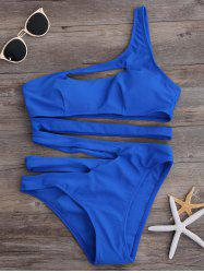 Cut Out One Shoulder Monokini One Piece Swimwear