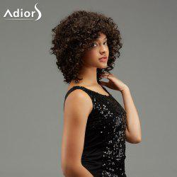 Adiors Medium Curl Hairstyle Capless Fluffy Synthetic Wig