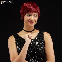 Short Straight Pixie Capless Human Hair Wig