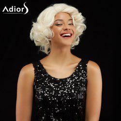 Adiors Short Curl Hairstyle Side Bang Fluffy Synthetic Wig