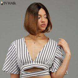 Siv Hair Short Straight Middle Part Ombre Human Hair Wig