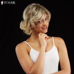 Short Curly Fluffy Side Bang Capless Human Hair Wig