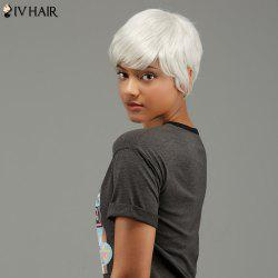 Short Straight Oblique Bang Capless Human Hair Wig