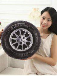 Individuality Creative 3D Simulation Wheel Tires Plush Cushion Throw Pillow