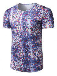 Scattered Water Drops Print T-Shirt