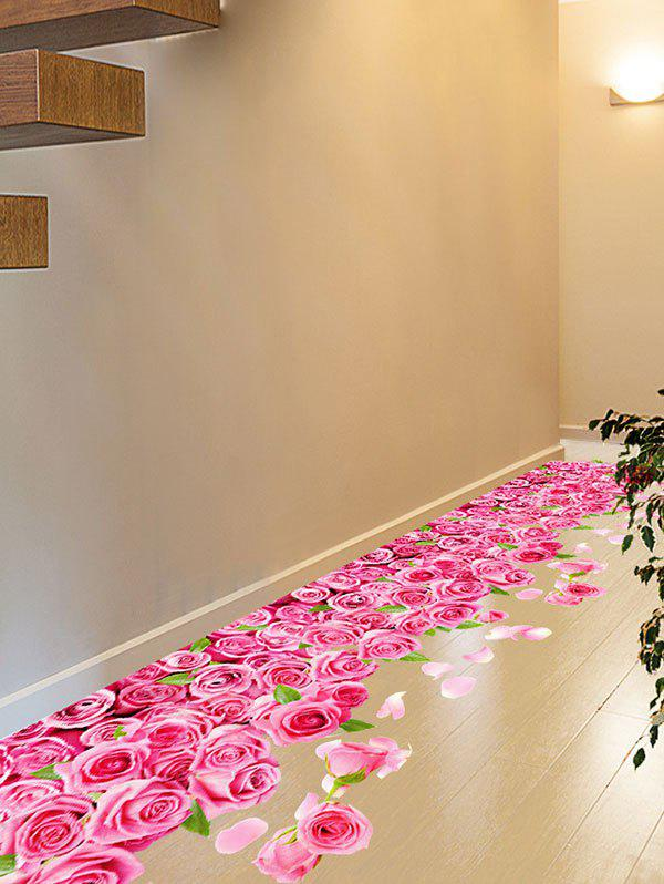Image of 3D Blooming Rose Interior Wall Art Sticker For Toilet