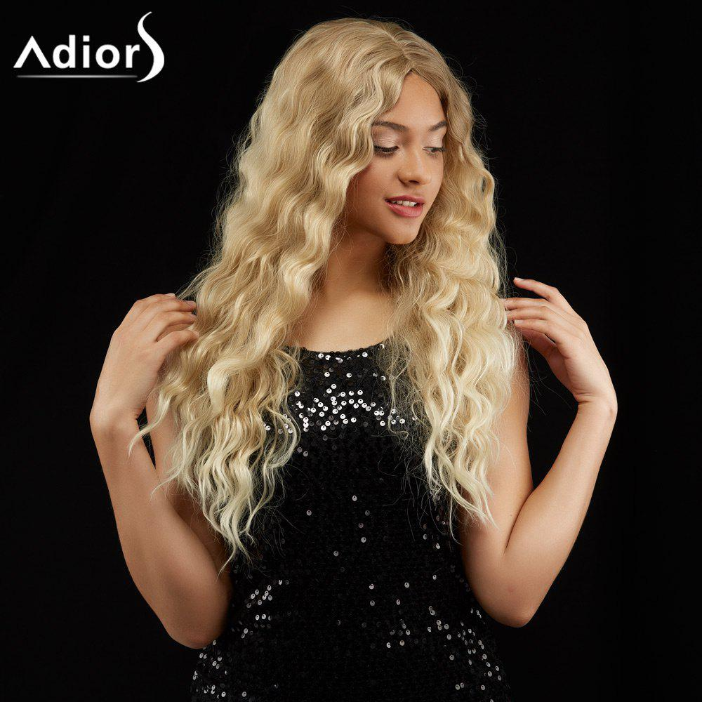 Adiors Long Wavy Centre Parting Shaggy Synthetic WigHAIR<br><br>Color: COLORMIX; Type: Full Wigs; Cap Construction: Capless; Style: Wavy; Material: Synthetic Hair; Bang Type: Middle; Length: Long; Length Size(CM): 68; Weight: 0.2740kg; Package Contents: 1 x Wig;