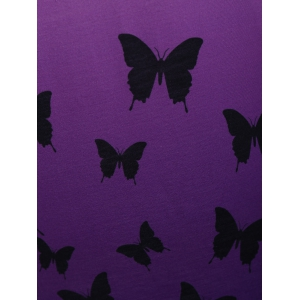 Asymmetrical Butterfly Longline Ombre Tunic Top - PURPLE S