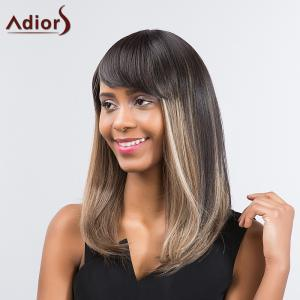 Adiors Long Straight Highlight Bob Synthetic Wig