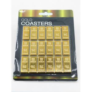 Simulation Gold Table Heat Proof Coaster - GOLDEN