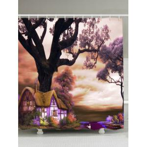 Oil Painting Nature Landscape Shower Curtain - Colormix - W71inch*l79 Inch