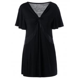 Plus Size Twist Front Longline T-Shirt