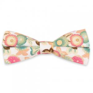 Blossom Embellished Vintage Bow Tie - White - 5xl