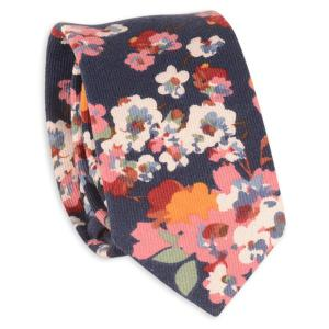 Retro Tiny Bouquet Printed Neck Tie