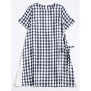 Plaid Mini Swing Dress