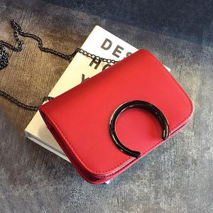 Flap Chains Cross Body Bag - RED