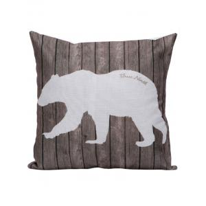 Polar Bear Wood Printed Pillow Case