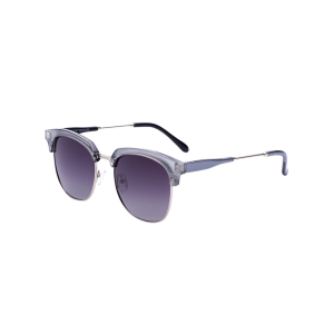 Metallic Insert Golf Sunglasses - Silver Frame+dark Brown Lens - 130cm