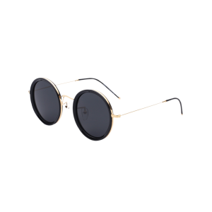 Metal Leg Insert Design Round Sunglasses