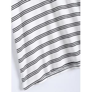 Plus Size Striped T-Shirt With Shorts -