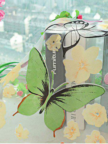 Latest Butterfly Print Voile Curtain For Balcony Bedroom - W42 INCH* L84 INCH COLORFUL Mobile