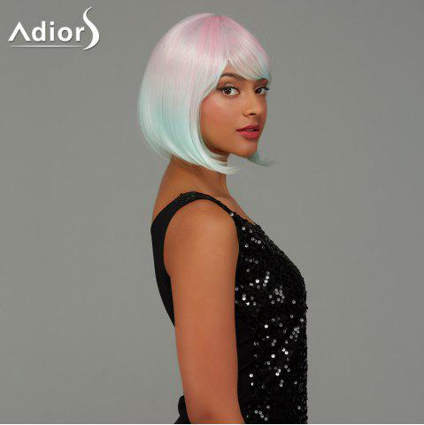 Outfit Adiors Short Bob Straight Gradient Side Bang Party Synthetic Wig - COLORMIX  Mobile