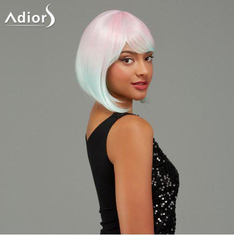 New Adiors Short Bob Straight Gradient Side Bang Party Synthetic Wig - COLORMIX  Mobile