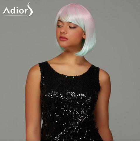 Buy Adiors Short Bob Straight Gradient Side Bang Party Synthetic Wig - COLORMIX  Mobile