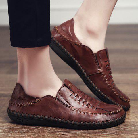 Outfit Whipstitch Elastic Casual Shoes