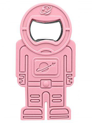 Store Spaceman Shape Silicone Beer Bottle Opener PINK