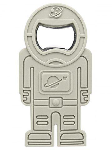 Shops Spaceman Shape Silicone Beer Bottle Opener GRAY