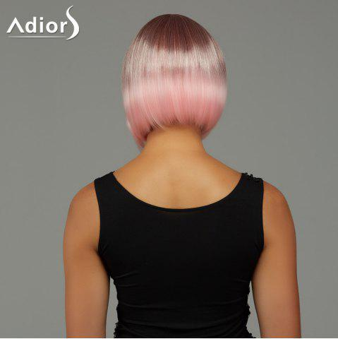Buy Adiors Short Bob Gradient Side Bang Party Synthetic Wig - COLORMIX  Mobile