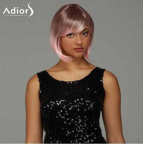Online Adiors Short Bob Gradient Side Bang Party Synthetic Wig - COLORMIX  Mobile