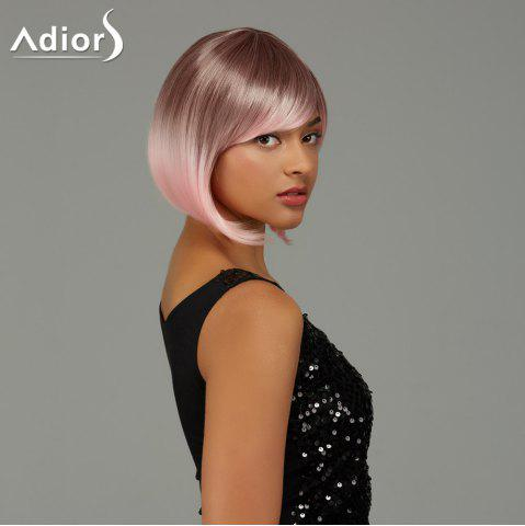 New Adiors Short Bob Gradient Side Bang Party Synthetic Wig - COLORMIX  Mobile