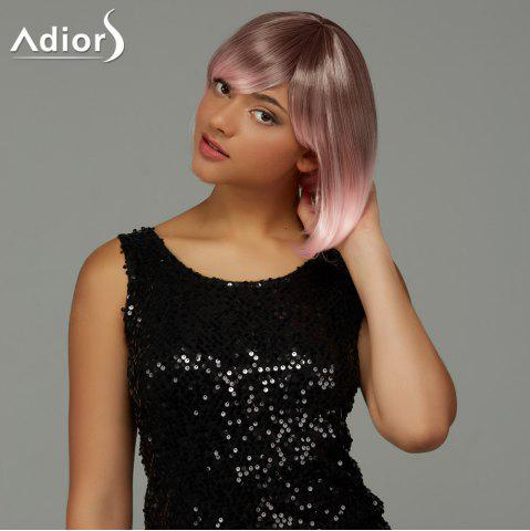 Affordable Adiors Short Bob Gradient Side Bang Party Synthetic Wig - COLORMIX  Mobile