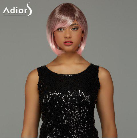 Discount Adiors Short Bob Gradient Side Bang Party Synthetic Wig - COLORMIX  Mobile