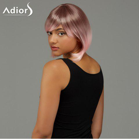 Trendy Adiors Short Bob Gradient Side Bang Party Synthetic Wig - COLORMIX  Mobile