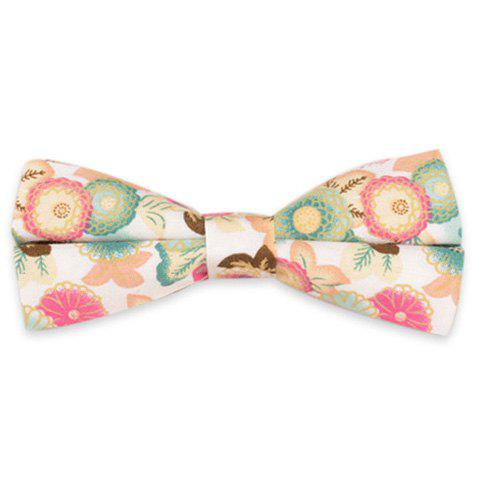 Blossom Embellished Vintage Bow Tie - White - 2xl